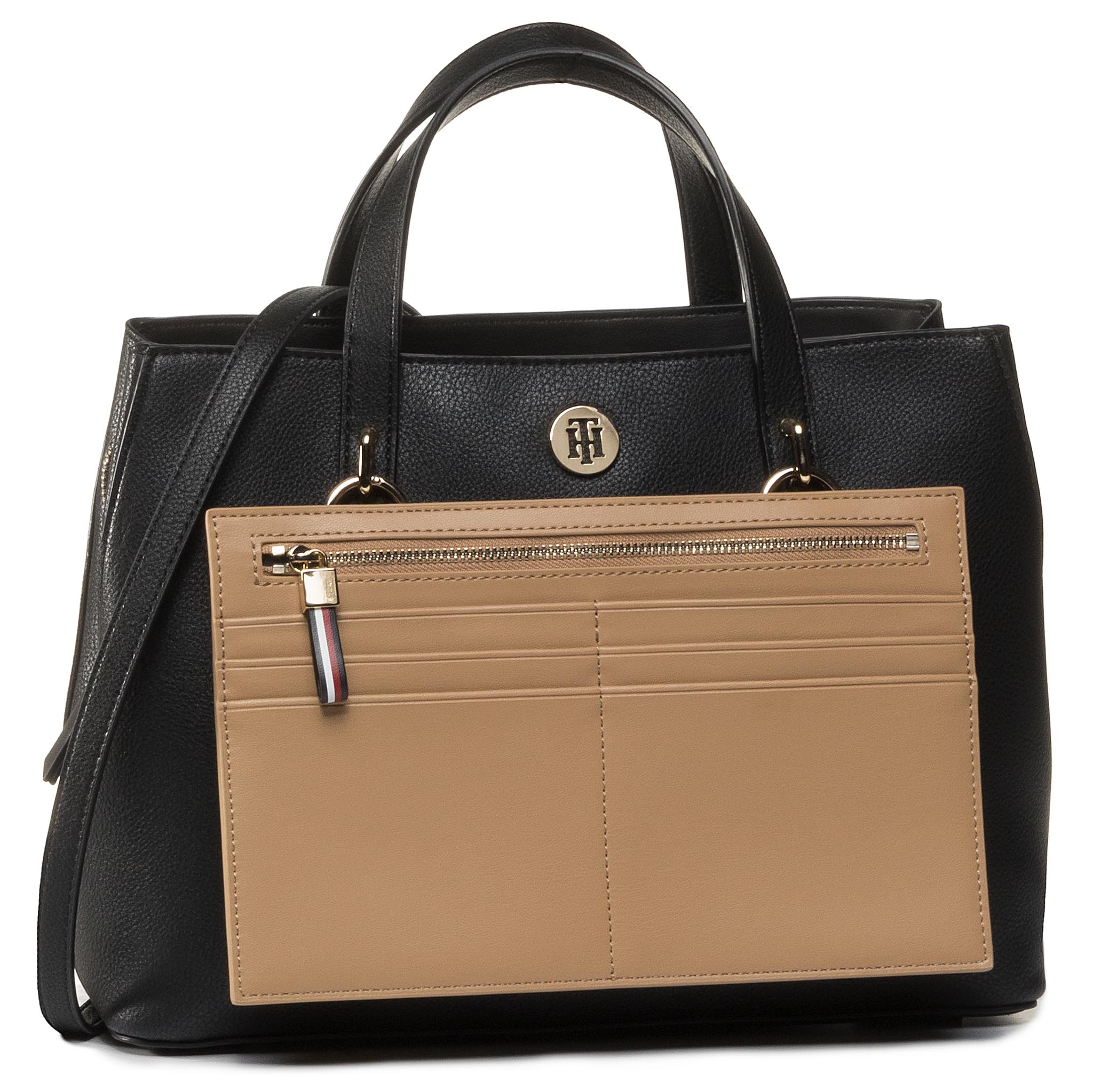 Geantă TOMMY HILFIGER - Charming Tommy Med Work Bag AW0AW08158 BDS