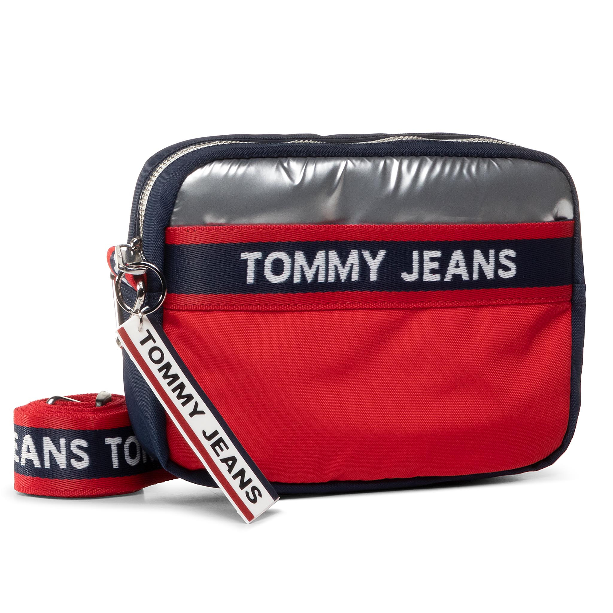 Geantă TOMMY JEANS - Tjw Logo Tape Crossover Cb AW0AW08301 0GY