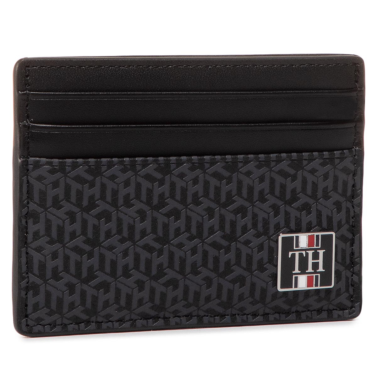 Etui pentru carduri TOMMY HILFIGER - Th Monogram Cc Holder AM0AM05849 BDS