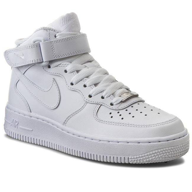 the latest 7c308 d942b Pantofi NIKE - Air Force 1 Mid  07 LE 366731 100 White White