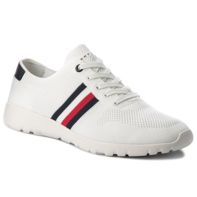 Sneakers TOMMY HILFIGER - Extra Lighweight Knitted Runner FM0FM01621 White  100 9fdb56350d9