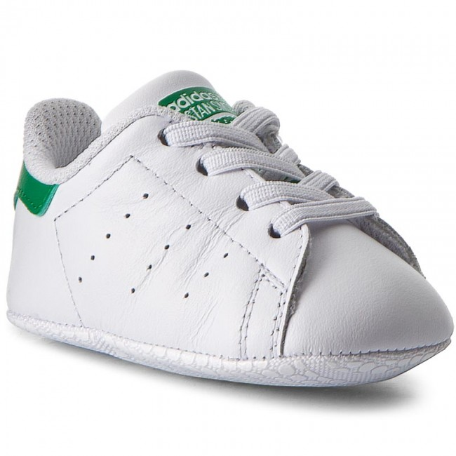 Pantofi adidas - Stan Smith Crib B24101 Ftwwht/Ftwwht/Green