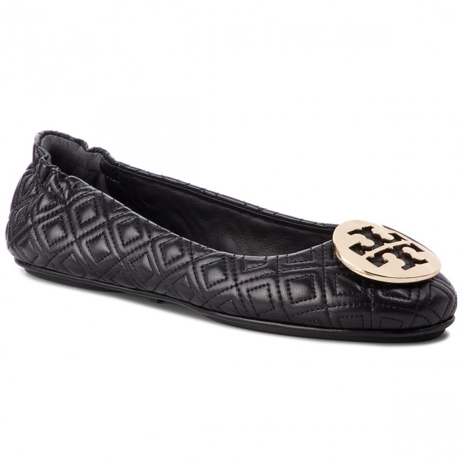 Balerini TORY BURCH - Quilted Minnie 50736 Perfect Black/Gold 002