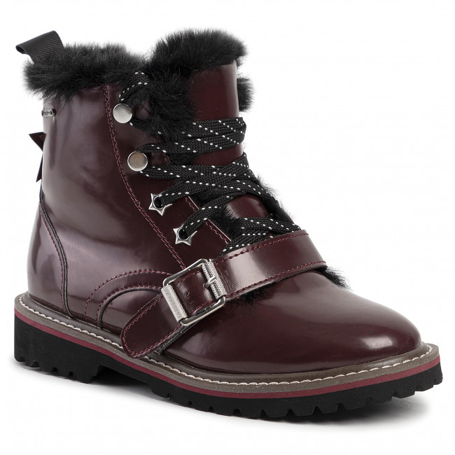 Trappers PEPE JEANS - Leia Buckle PGS50138  Burgundy 299