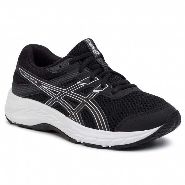 Pantofi ASICS - Contend 6 Gs 1014A086 Black/White 001