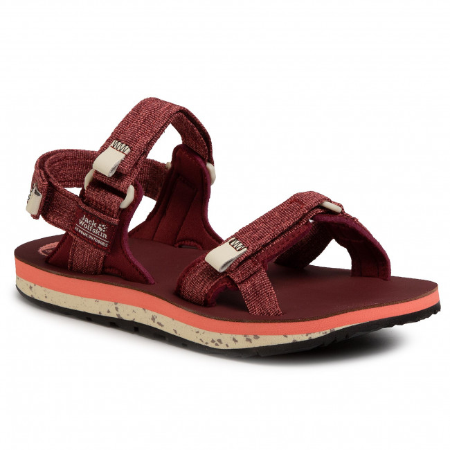 Sandale JACK WOLFSKIN - Outfresh Deluxe Sandal W 4039451 Carbernet/Champagne