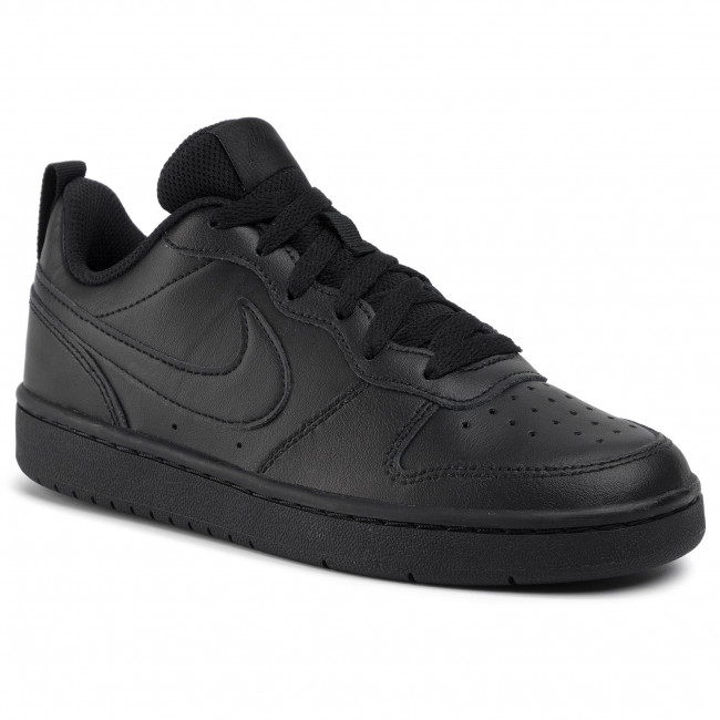 Pantofi NIKE - Court Borough Low 2 (GS) BQ5448 001 Black/Black/Black