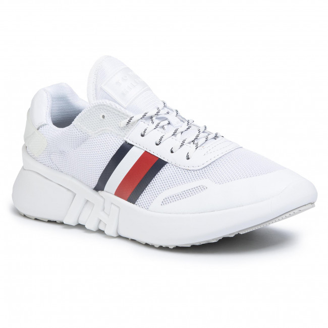 Sneakers TOMMY HILFIGER - Tommy Sporty Branded Runner FW0FW04700 White YBS