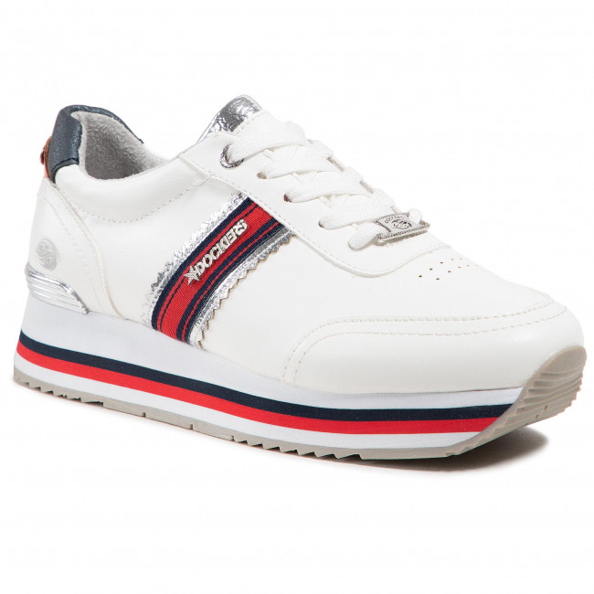 Sneakers DOCKERS BY GERLI - 46DH202-618591 White/Silver