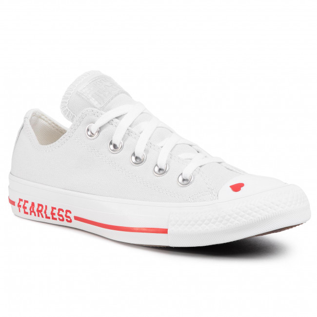 Teniși CONVERSE - Ctas Ox 567157C Photon Dust/University Red