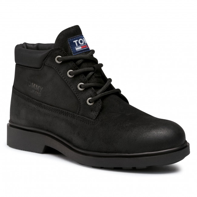 Ghete TOMMY JEANS - Low Cut Tommy Jeans Boot EM0EM00541 Black BDS
