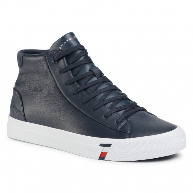 Sneakers TOMMY HILFIGER - Corporate Leather Sneaker High FM0FM02984 Desert Sky DW5