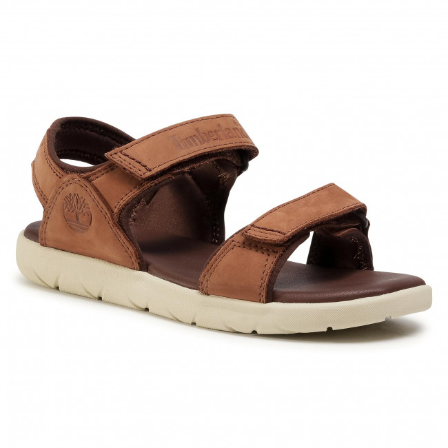 Sandale TIMBERLAND - Nubble Sandal Lthr 2 Str TB0A1RAHA20  Medium Brown Nubuck