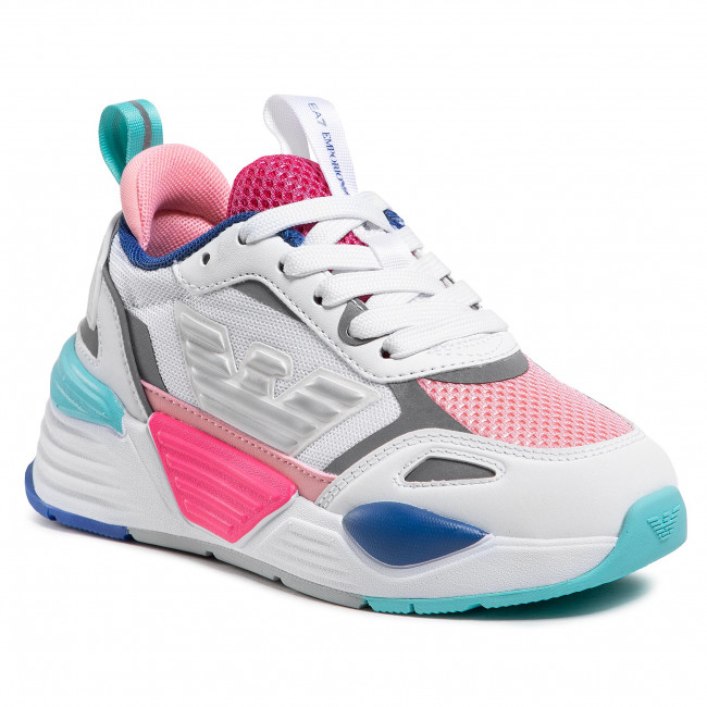 Sneakers EA7 EMPORIO ARMANI - XSX012 XOT31 N340 Wht/Cur/Q.Pin+F.Pink