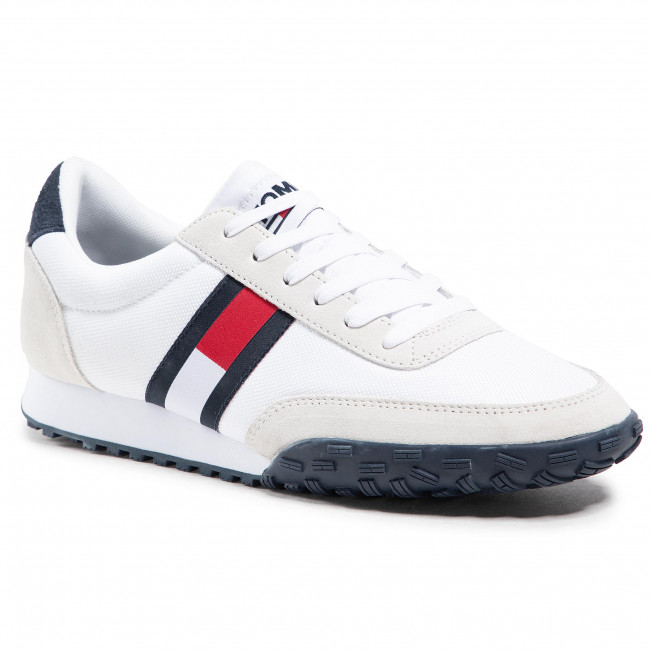 Sneakers TOMMY JEANS - Low Profile Mix Runner Retro EM0EM00613 White YBI