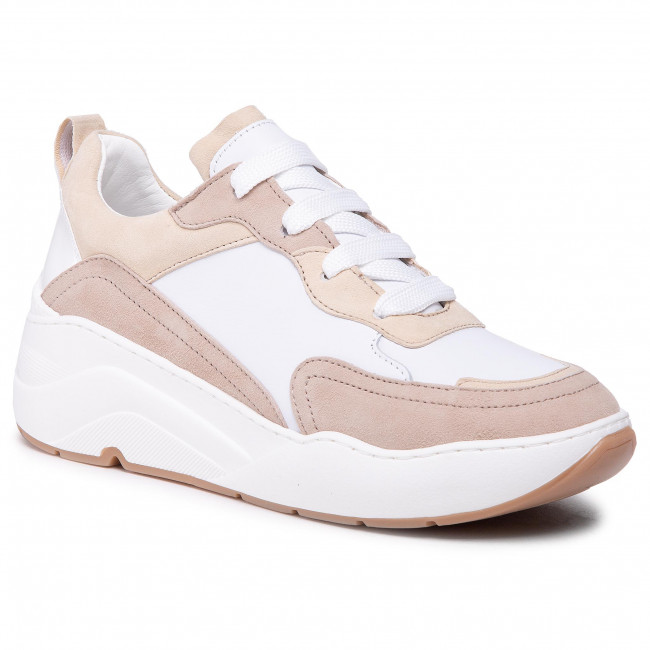 Sneakers CYCLEUR DE LUXE - Jolien CDLW211157 White/Cold Pink/Taupe