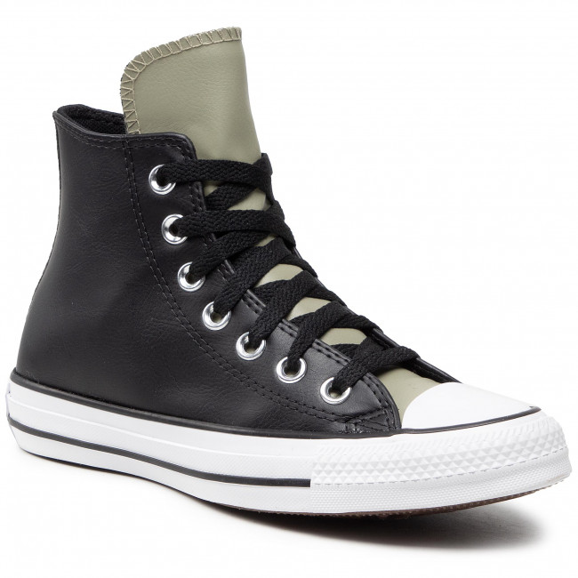 Bascheți CONVERSE - Ctas Hi 170390C  Black/Light Field