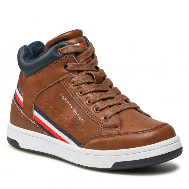 Ghete TOMMY HILFIGER - High Top Lace Up Sneaker T3B4-32051-0621 M Tabacco 520
