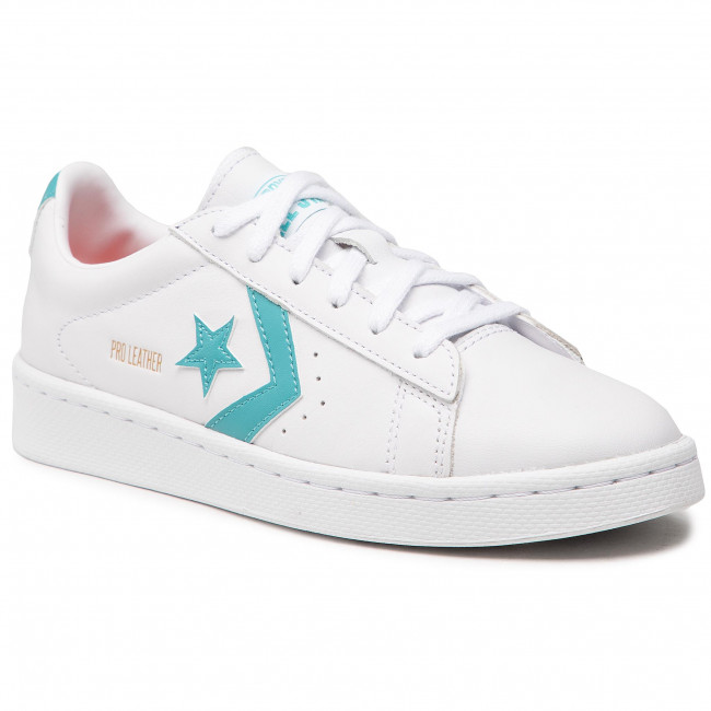 Sneakers CONVERSE - Pro Leather 170755C White/Harbor Teal/White
