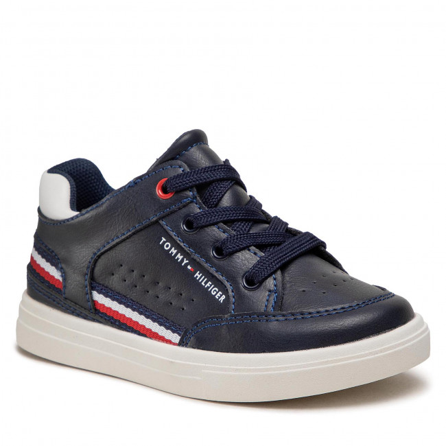 Sneakers TOMMY HILFIGER - Mid Cut Lace-Up Sneaker T1B4-32043-0621 S Blue/White X007