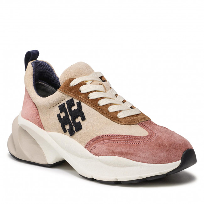 Sneakers TORY BURCH - Good Luck Trainer 85463 New Cram/Navy/Pink Moon 200