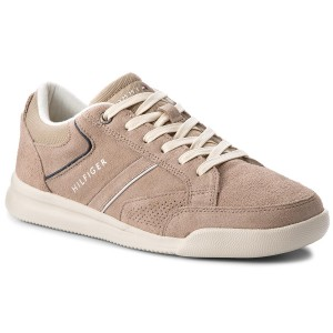 cae5f38e021 Sneakers TOMMY HILFIGER - Corporate Detail Suede Sneaker FM0FM01622 Taupe  255