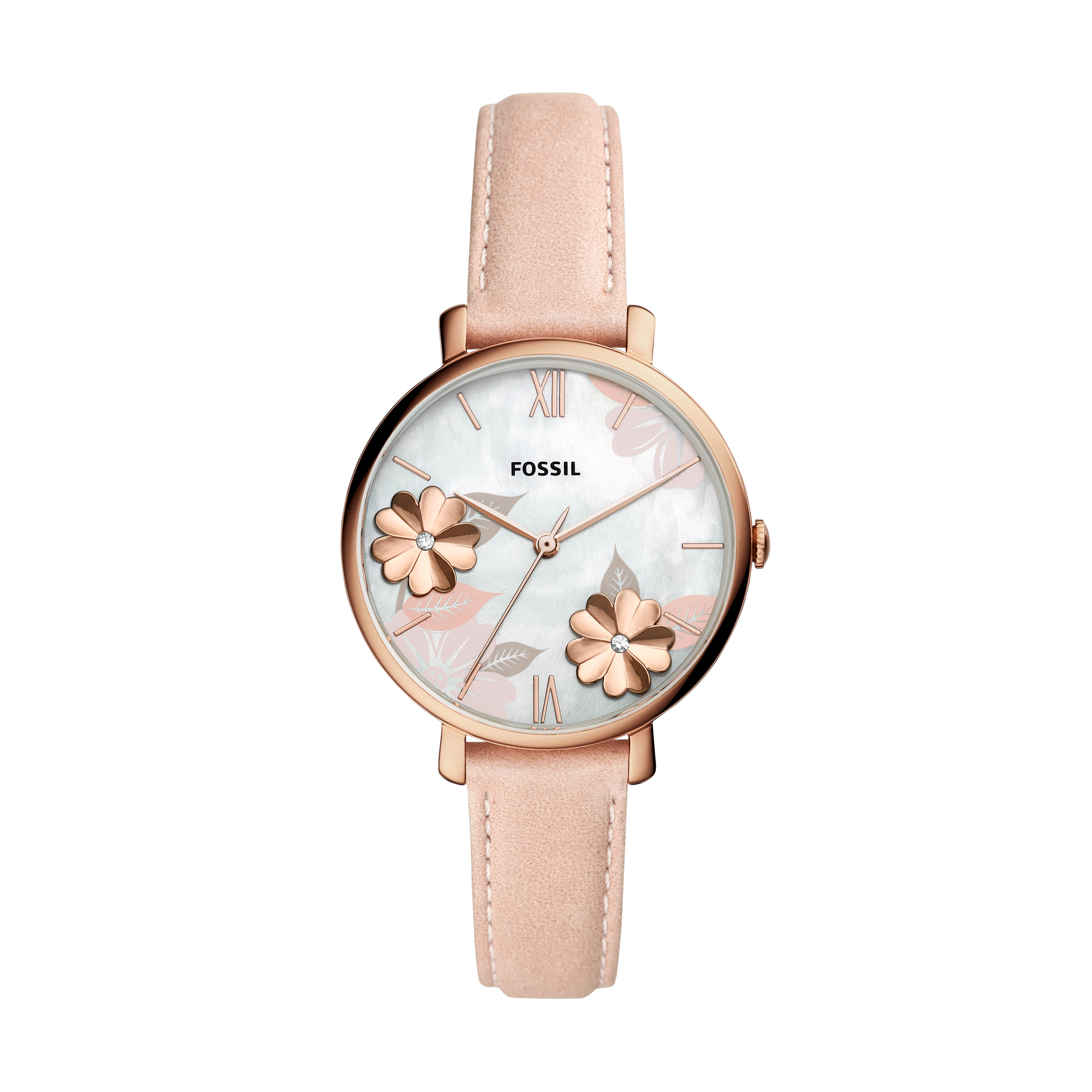 Ceas FOSSIL - Jacqueline ES4671 Pink/Rose Gold