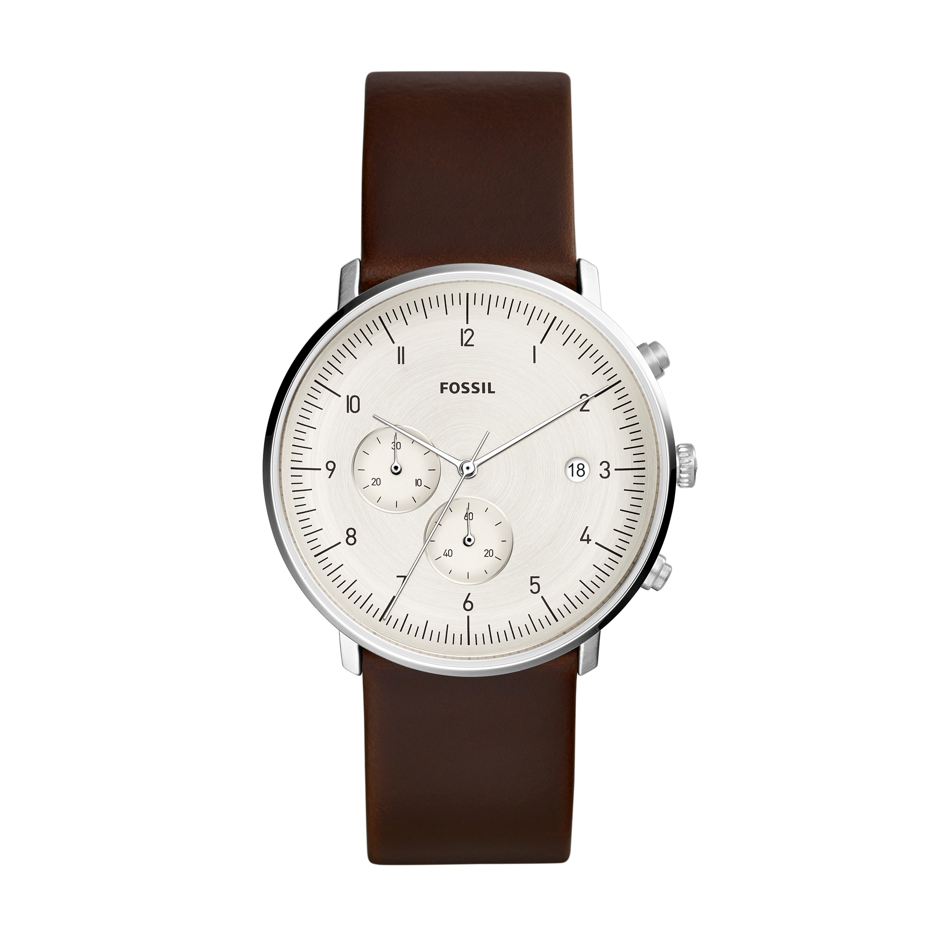 Ceas FOSSIL - Chase Timer FS5488 Brown/Silver