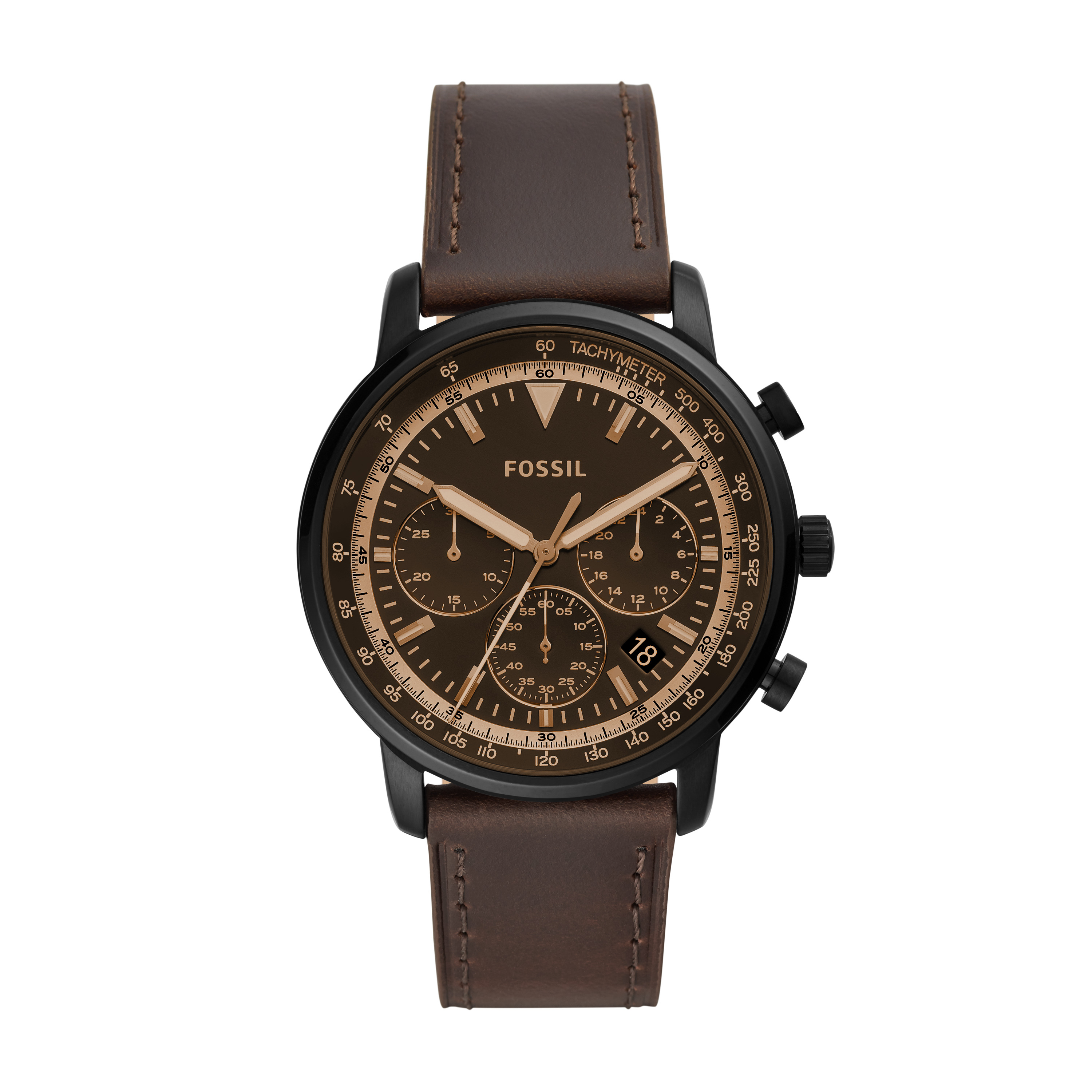 Ceas FOSSIL - Goodwin FS5529 Brown/Brown