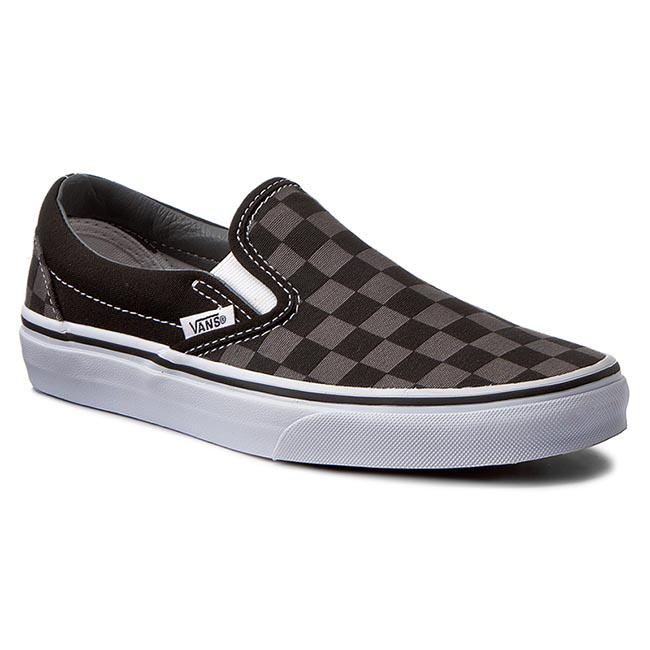 Teniși VANS - Classic Slip-On VN000EYEBPJ Black/Pewter Checkerboard