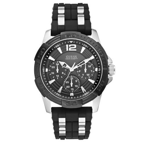 Ceas GUESS - Oasis W0366G1 BLACK/SILVER TONE