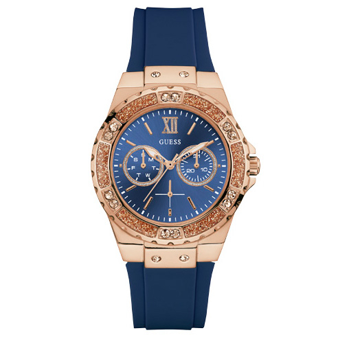 Ceas GUESS - Limelight W1053L1 BLUE/ROSE GOLD TONE